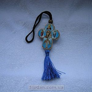 Кулон в авто Крест иконостас Казанская