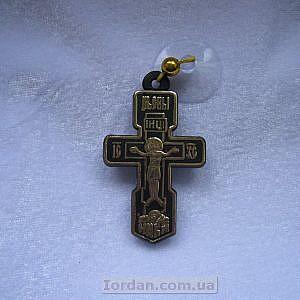 Крест в авто на присоске позолота