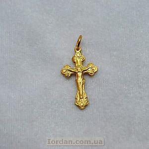Крест металл фигурный желтый