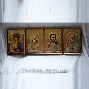 Иконостас кожаный 17х24, 4 лика Софрино