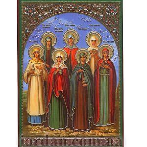 Святые жены мироносицы, ламин 6*9