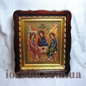 Фигурный киот Троица ветхозаветная 15х18