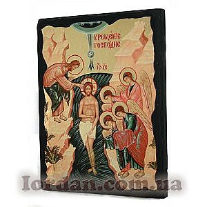 Крещение Господне Черное Золото 17х23