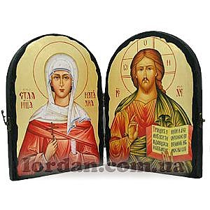 Наталья и Спаситель Арка Золото 17х23