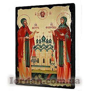 Петр и Феврония Черное Золото 17х23