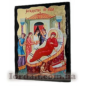 Рождество Пресвятой Богородицы Черное Золото 17х23
