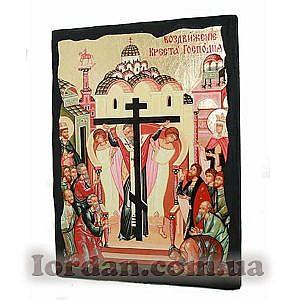 Воздвижение Креста Господня Черное Золото 17х23