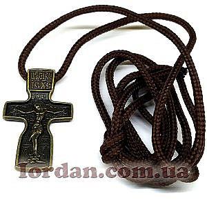 Крест Феодоровский бронза на шнуре