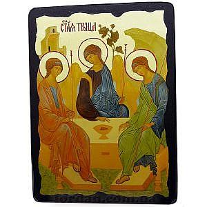 Троица ветхозаветная Черное Золото 17х23