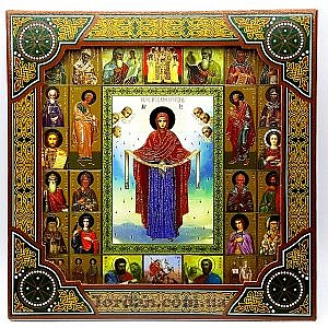Икона Покров Пресвятой Богородицы 24х24 см