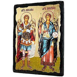 Михаил и Гавриил Черное Золото 17х23