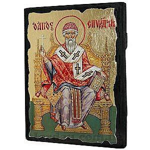 Спиридон на троне Черное Золото 17х23