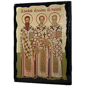 Три Святителя Черное Золото 17х23