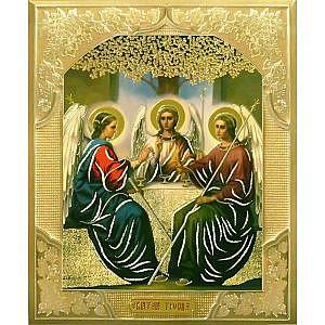Троица под дубом Софрино Цветные Литография 15х18