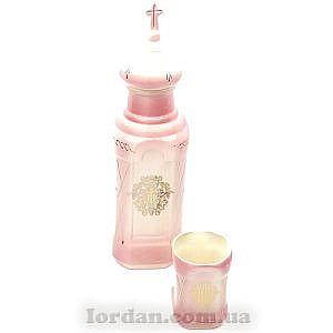 Бутылка и стакан розовый с желтым 26 см Г