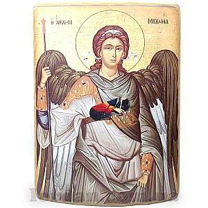 Михаил архангел холст гнутая 30х40 см