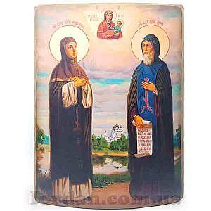 Петр и Феврония холст гнутая 30х40 см