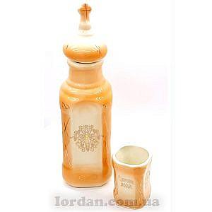 Бутылка и стакан оранжевый с желтым 26 см Г