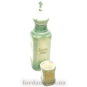 Бутылка и стакан зеленый с желтым 26 см Г