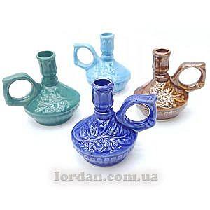Керамический подсвечник синий