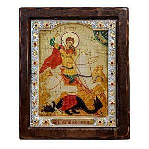 Георгий Победоносец на коне Риза Византия 17х20
