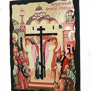 Воздвижеине Креста Черное Золото 17х23